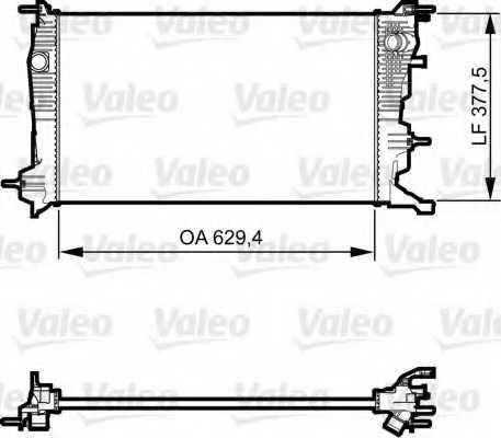 Радиатор охлаждения двигателя VALEO 735607 - изображение