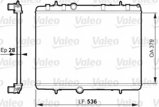 Радиатор охлаждения двигателя VALEO 735608 - изображение