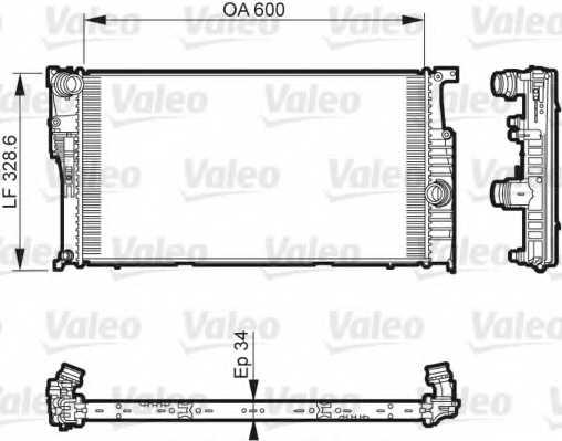 Радиатор охлаждения двигателя VALEO 735612 - изображение