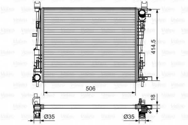 Радиатор охлаждения двигателя VALEO 735634 - изображение