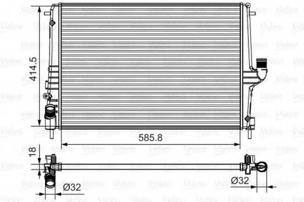 Радиатор охлаждения двигателя VALEO 735635 - изображение