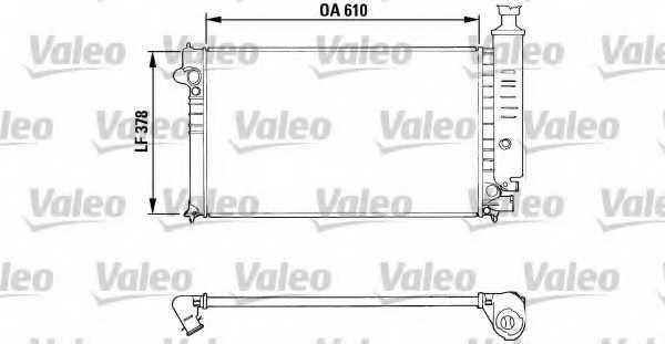 Радиатор охлаждения двигателя VALEO RA493 / 810919 - изображение
