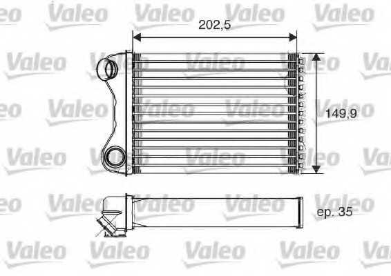 Радиатор отопления салона VALEO 812211 - изображение
