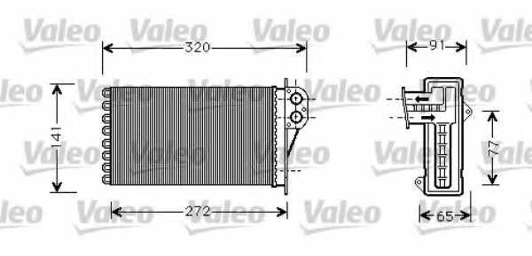 Радиатор отопления салона VALEO 812221 - изображение