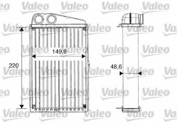 Радиатор отопления салона VALEO 812247 - изображение