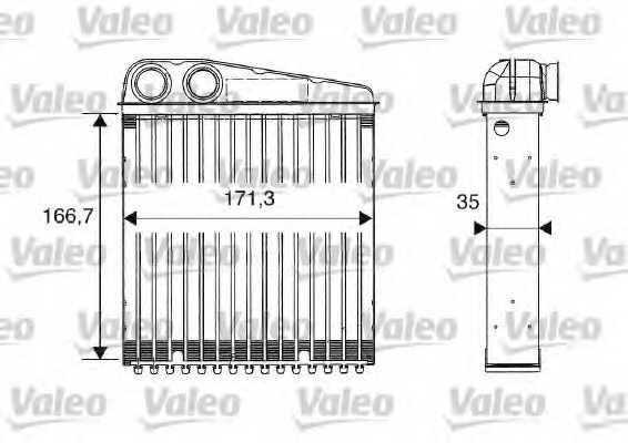 Радиатор отопления салона VALEO 812250 - изображение