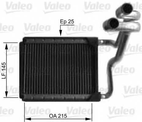 Радиатор отопления салона VALEO 812441 - изображение
