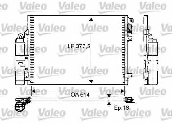 Конденсатор кондиционера VALEO 814051 - изображение