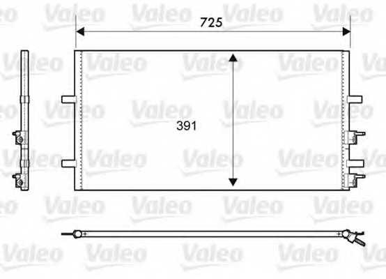Конденсатор кондиционера VALEO 814087 - изображение