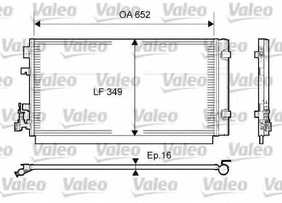 Конденсатор кондиционера VALEO 814094 - изображение
