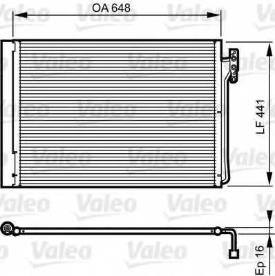 Конденсатор кондиционера VALEO 814165 - изображение