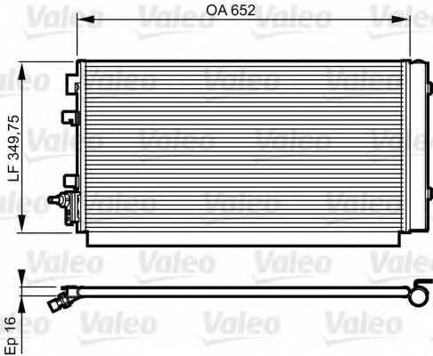 Конденсатор кондиционера VALEO 814187 - изображение