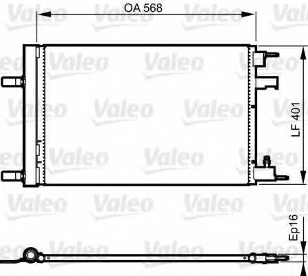 Конденсатор кондиционера VALEO 814201 - изображение