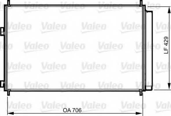 Конденсатор кондиционера VALEO 814204 - изображение