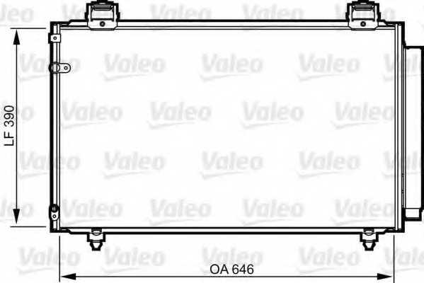 Конденсатор кондиционера VALEO 814208 - изображение