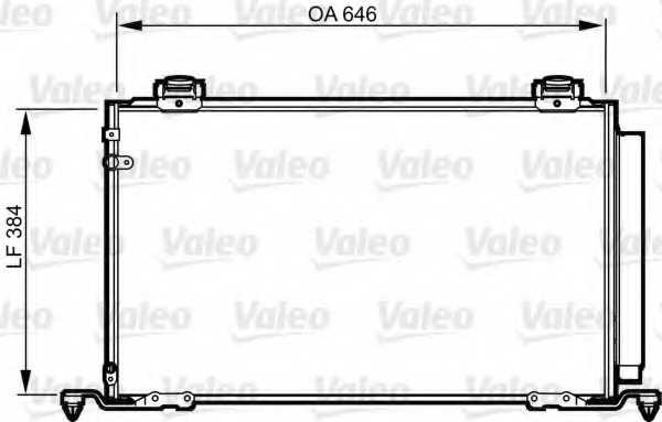 Конденсатор кондиционера VALEO 814209 - изображение