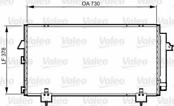 Конденсатор кондиционера VALEO 814218 - изображение