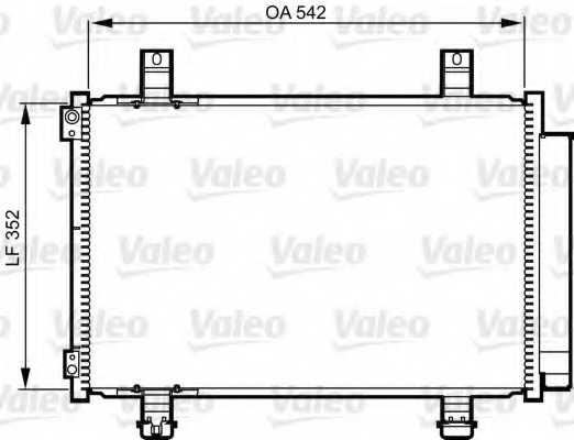 Конденсатор кондиционера VALEO 814219 - изображение