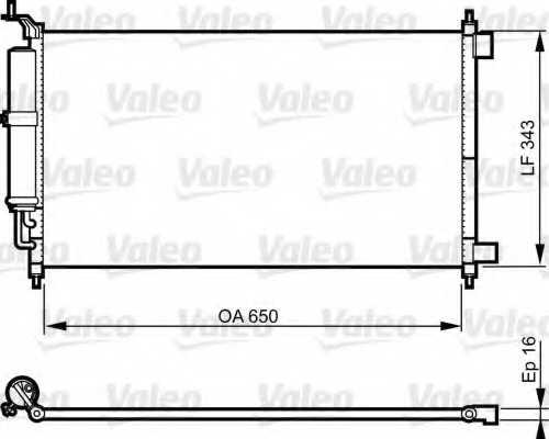 Конденсатор кондиционера VALEO 814221 - изображение