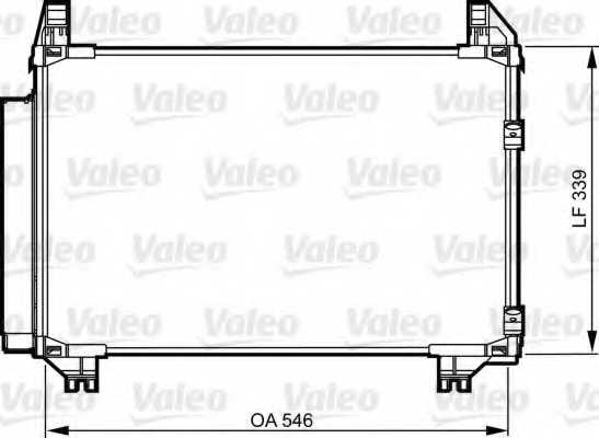 Конденсатор кондиционера VALEO 814223 - изображение