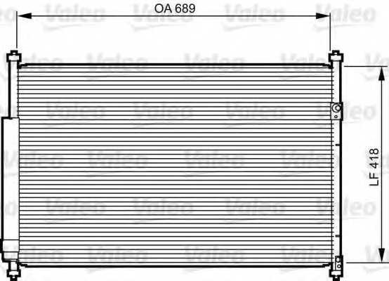 Конденсатор кондиционера VALEO 814228 - изображение
