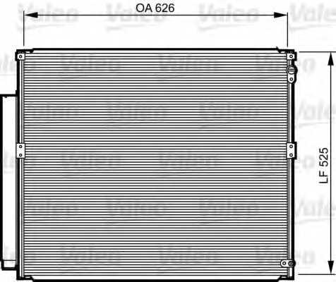 Конденсатор кондиционера VALEO 814230 - изображение