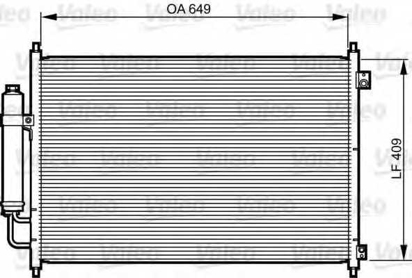 Конденсатор кондиционера VALEO 814231 - изображение