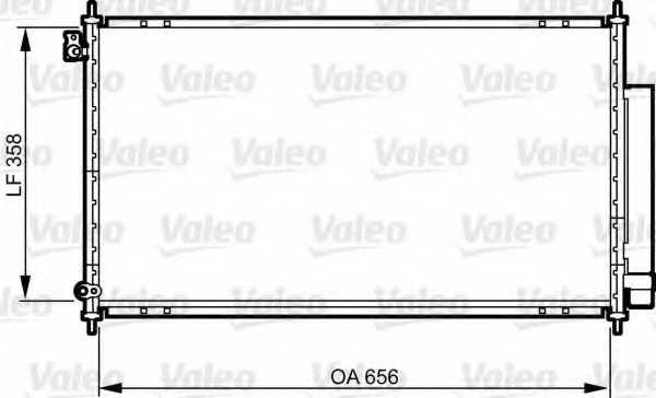 Конденсатор кондиционера VALEO 814242 - изображение