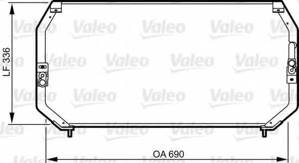 Конденсатор кондиционера VALEO 814246 - изображение