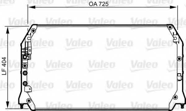 Конденсатор кондиционера VALEO 814247 - изображение