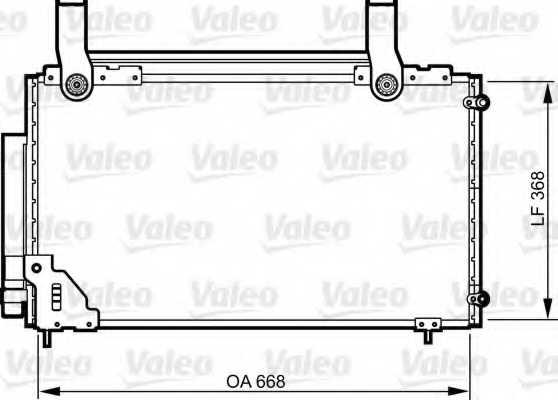 Конденсатор кондиционера VALEO 814267 - изображение