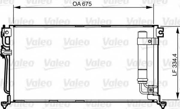 Конденсатор кондиционера VALEO 814273 - изображение