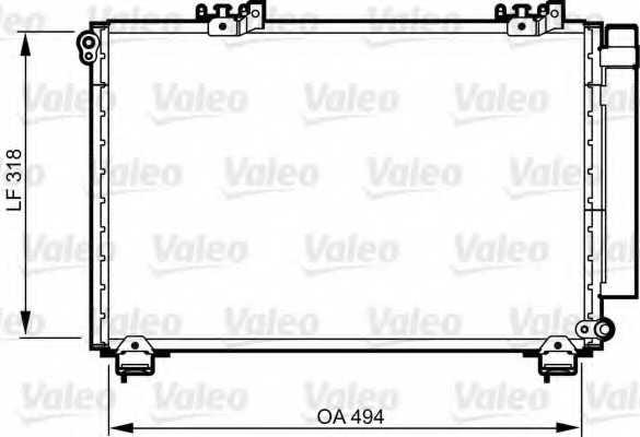 Конденсатор кондиционера VALEO 814309 - изображение