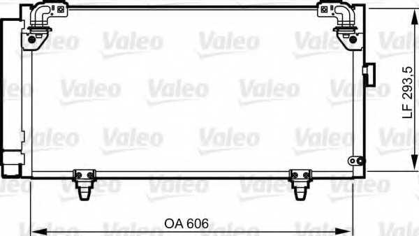 Конденсатор кондиционера VALEO 814314 - изображение