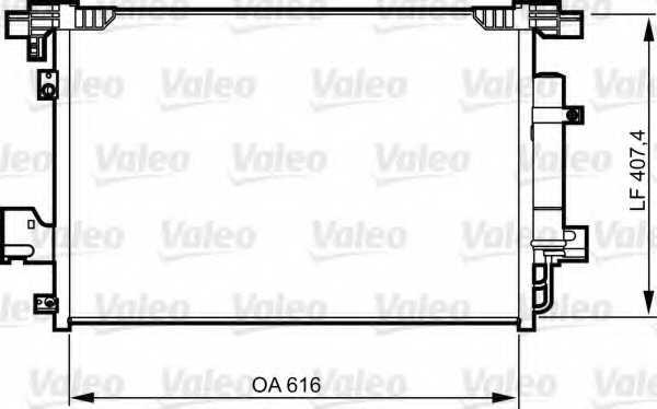 Конденсатор кондиционера VALEO 814315 - изображение