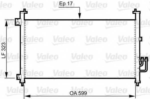 Конденсатор кондиционера VALEO 814333 - изображение