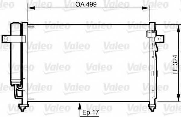 Конденсатор кондиционера VALEO 814341 - изображение