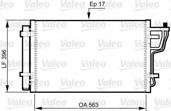 Конденсатор кондиционера VALEO 814351 - изображение