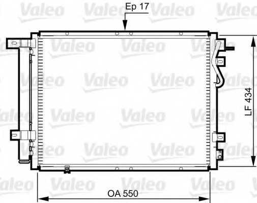 Конденсатор кондиционера VALEO 814352 - изображение