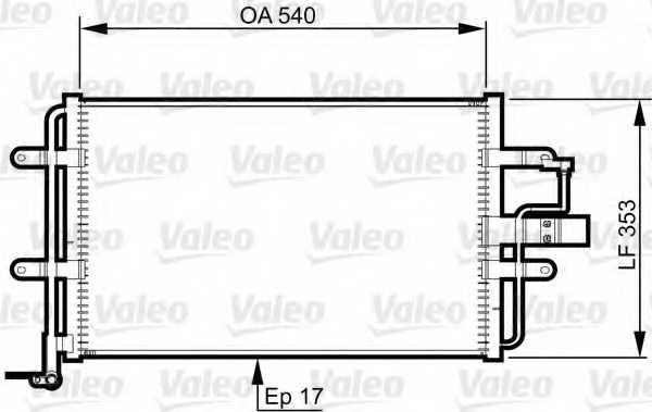 Конденсатор кондиционера VALEO 814357 - изображение