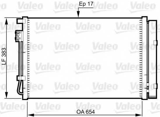 Конденсатор кондиционера VALEO 814362 - изображение