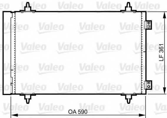Конденсатор кондиционера VALEO 814366 - изображение