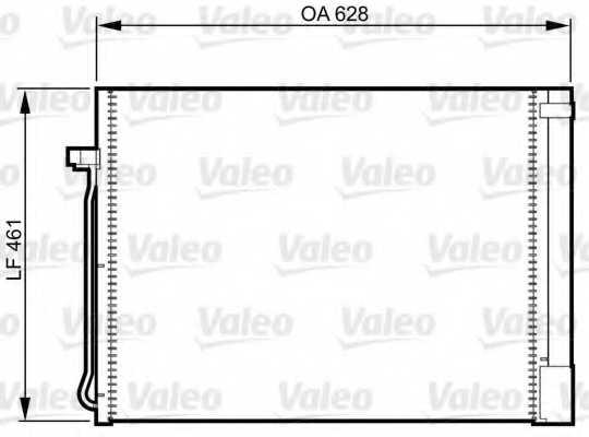 Конденсатор кондиционера VALEO 814367 - изображение