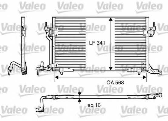 Конденсатор кондиционера VALEO 817230 - изображение