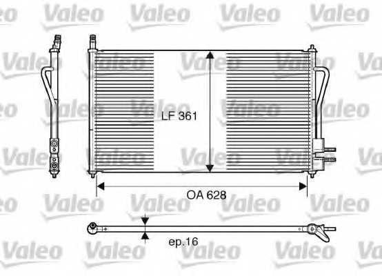 Конденсатор кондиционера VALEO 817493 - изображение