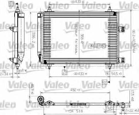 Конденсатор кондиционера VALEO CA1255 / 817526 - изображение