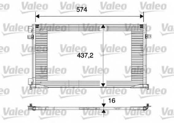 Конденсатор кондиционера VALEO CA1113 / 817577 - изображение