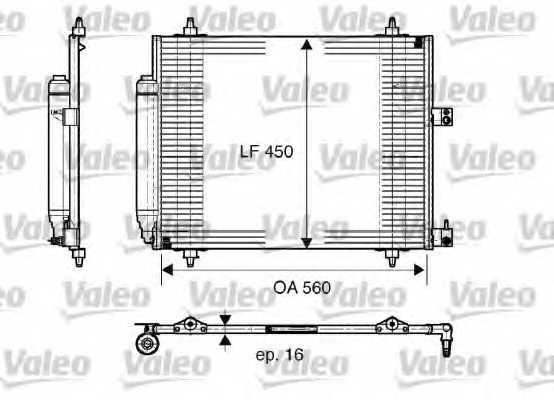 Конденсатор кондиционера VALEO CA1256 / 817579 - изображение