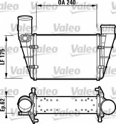 Интеркулер VALEO 817625 - изображение