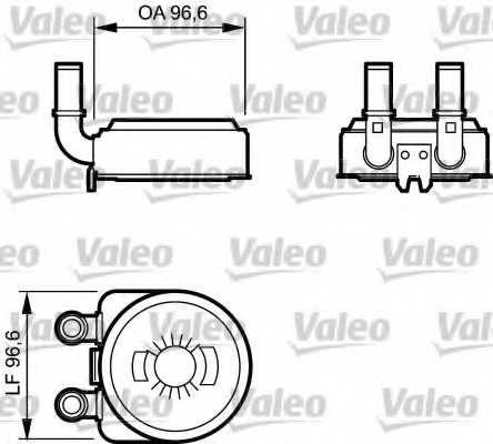 Масляный радиатор масла двигателя VALEO 817705 - изображение